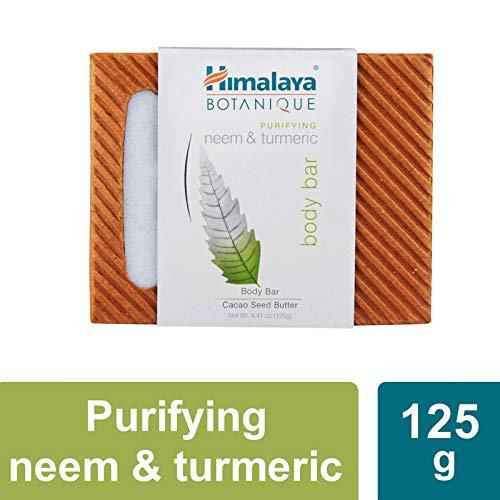 Himalaya Botanique Purifying Neem & Turmeric Body Bar 125g/4.41oz (1 Pack of Neem & Turmeric)