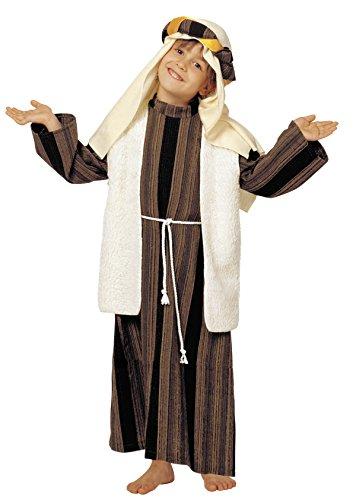 Kinder Rabbi Kostüm - Unbekannt Hirte Kostüm arabische Juden für Kinder (Größe 3)