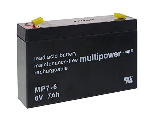 Multi Power Piombo Gel Batteria Mp 7–66V/7000mAh/batteria al piombo/manutenzione/7AH/(per esempio per modellismo