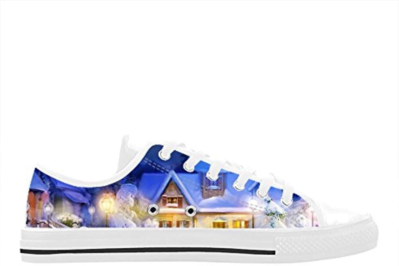 CHEESE Aquila Action Leather Low-Top Scarpe da Uomo Stringate Casual in Gomma Nera scarpe da ginnastica Custom Christmas Design | Shopping Online  | Gentiluomo/Signora Scarpa