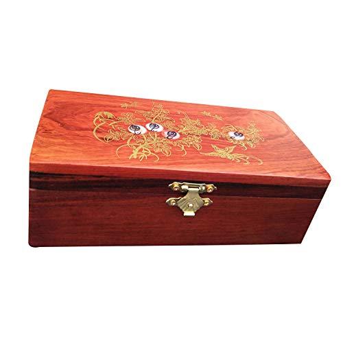 Mahagoni Schmuck Box - Make-Up Aufbewahrungsbox/Vintage Single Layer Jewelry Box 18 * 9 * 6,4 cm -