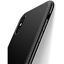 J Jecent Coque pour iPhone XS Max,  Texture Fibre de Carbone   Silicone TPU d9c8c38b3d7