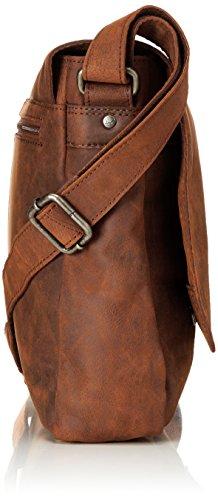 Sansibar - Messenger Bag, Borse a tracolla Unisex - Adulto Marrone (Dark Brown)