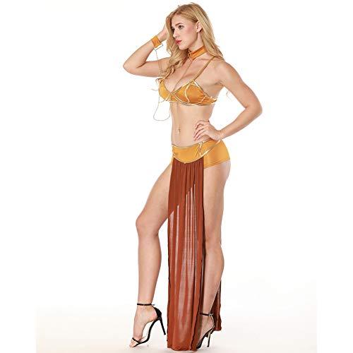 YTWF Arabische Kleopatra Prinzessin Kleid Griechische Göttin Kostüm Cosplay Halloween Sexy - Griechisch Sexy Kostüm