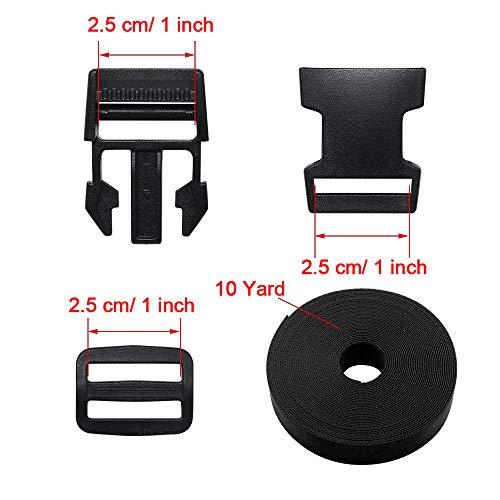"10pcs Plastic Slide Buckle for Hiking Camping Backpack 25mm//1/"" Webbing Strap"