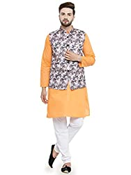 The Dapper Ethnic Mens Traditional Jute Printed Nehru Jacket