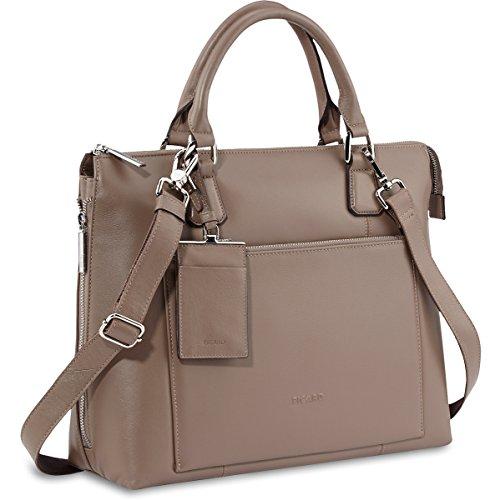 Handtasche cm 36 Nougat Leder Maggie Picard 5awgx45