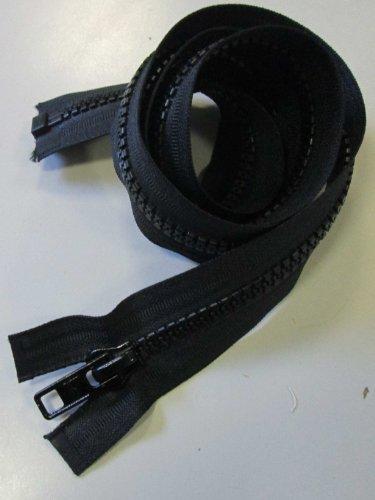 Reißverschluß Kunststoff teilbar für Motorradkleidung 90 cm schwarz (Reißverschluss-motorrad)