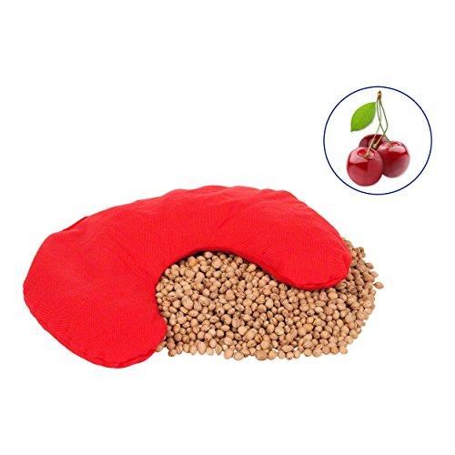 Kirschkernkissen (30x23 cm) aus Baumwolle, 800 g. Das Wärmekissen auch Nackenkissen und Kirschkern Nackenhörnchen für Ofen, Mikrowelle, Heizung und Kachelofen. Geeignet für Wärme und Kältetherapie.