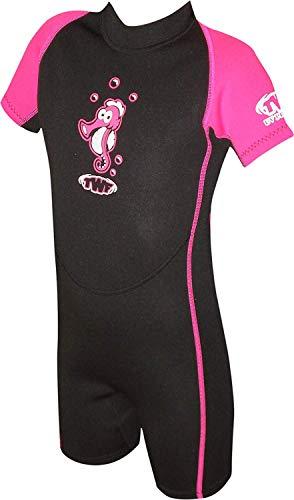 TWF Seahorse - Traje para deportes acuáticos, color rosa, talla 3-4 Años