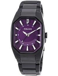 Police P12895LSB-15M - Reloj analógico para mujer de acero inoxidable recubierto violeta
