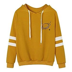 Hansee Blusen Shirt Tops, Heißer Mode Damen Shirts Blusen Tops Langarm Sweatshirt Printed Hoodie Kausalen Tops Bluse Shirts Blusen Tops