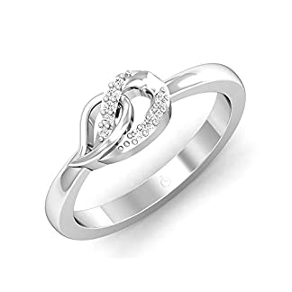 Stylori Ericia Twirl 18k (750) White Gold and Diamond Ring
