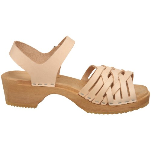 Swedish Hasbeens Braided low 730 Damen Sandalen Beige (Nature)
