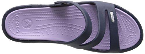 Crocs Patricia Women, Sandales femme Bleu (Navy/Lavender)