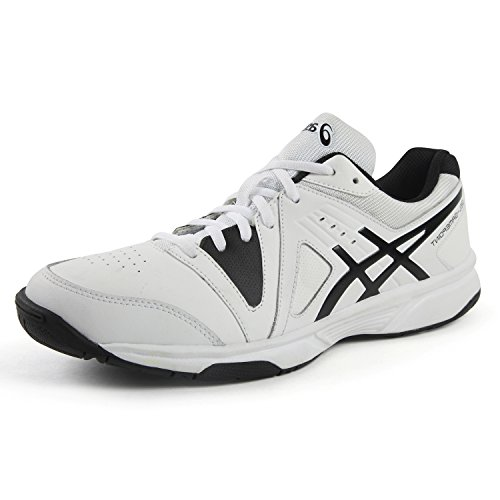 Asics Men's Gel-Gamepoint Tennis Shoes White/Black 0190 (7 UK)  available at amazon for Rs.3699