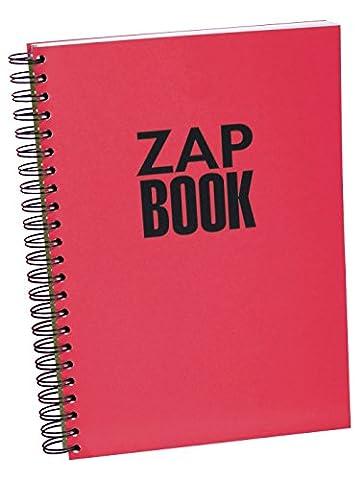Clairefontaine 8354C Zap book Bloc d'esquisse spiralé 21 x 29,7 uni Coloris aléatoire