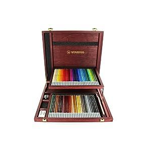 Pastellkreidestift - STABILO CarbOthello - 60er Holzkoffer - mit 60 verschiedenen Farben