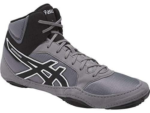 Asics Wrestling Ringer Schuhe Asics Snapdown 2 J703Y 9690, Farbe: aluminium-schwarz-weiß (47)