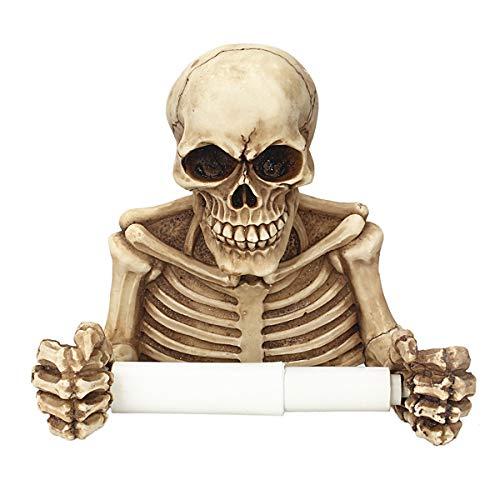 Weiye Halloween Toilettenpapierhalter - Böser Skelett Deko Toilettenpapierhalter in Gruseliger Halloween-Dekoration