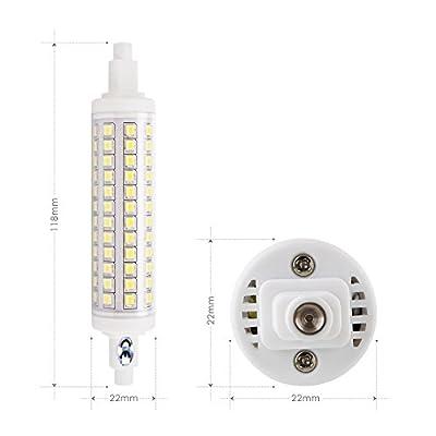 Albrillo 10W LED R7s 118mm LED Lampe dimmbar 96 x 2835 SMD Weiß 6000Kelvin 950Lumen 360°Abstrahlwinkel