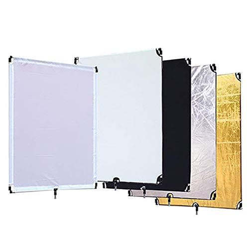 MSQL 5-in-1-Flag-Panel-Diffusor-Reflektor, Abnehmbarer Reflektor-Diffusor für die Fotostudio- und Werbefotografie
