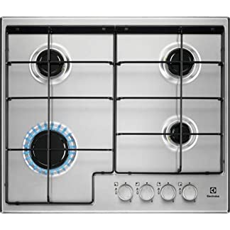 Electrolux EGS6424X hobs Acero inoxidable Integrado Encimera de gas – Placa (Acero inoxidable, Integrado, Encimera de gas, Acero inoxidable, 1000 W, Alrededor)