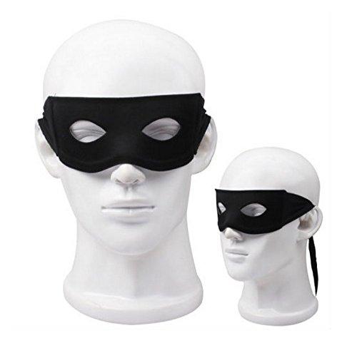 L214 Augenmaske schwarz für Fasching Karneval Halloween Dieb Batman Robin Borussia Dortmund Zorro V1