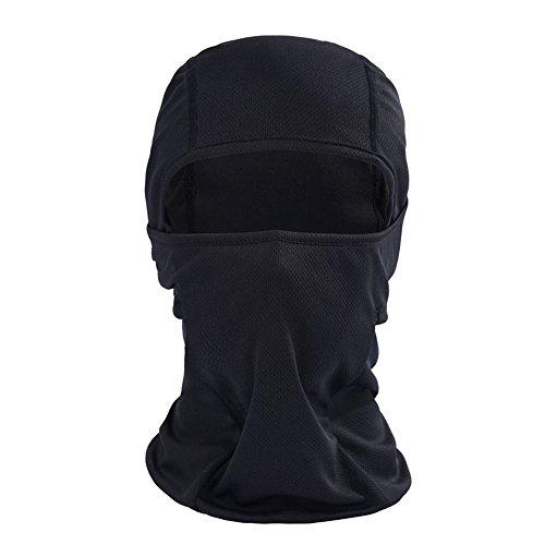 Blue Vessel Sonnenschutz Winddicht Atmungsaktiv Motorradfahren Maske Kopfbedeckung (schwarz) (Billig Gas Maske)