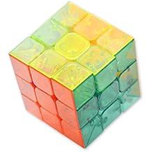 DSstyles 3x3x3 YJ MoYu YuLong Cubo Mágico Juego de Puzzle Cube Transparente