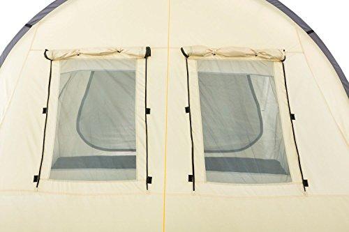 CampFeuer - Großes Tunnelzelt, Creme/schwarz, 5000 mm Wassersäule, Campingzelt - 6