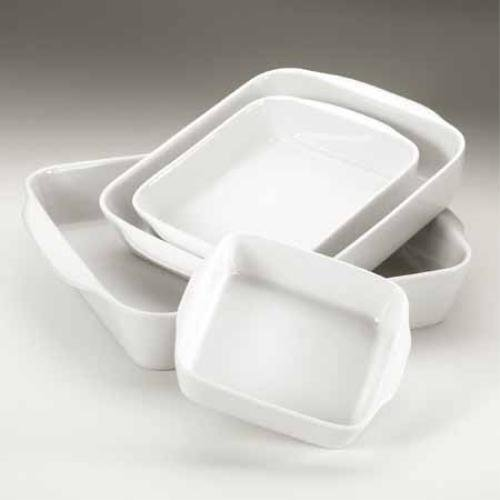 PILLIVUYT Classics - 175x175mm No2 Square Roasting Porcelain