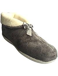 SamWo SWHG - Zapatillas de estar por casa de Lana para mujer Marrón marrón, color Marrón, talla 37/38