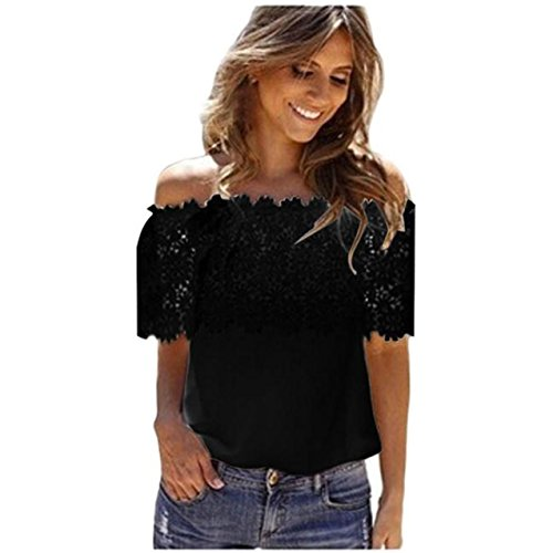 LHWY Donne Dalla spalla Casual top camicetta camicia in Chiffon