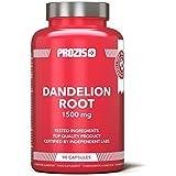 Prozis Dandelion Root complément 100 % naturel en gélules (1 500 mg) - Lutte contre les troubles digestifs et aide au bon fonctionnement du foie et des fonctions rénales - 90 gélules - 30 jours