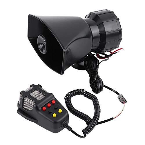 Qii lu 7 Sounds Laute Auto Audio Lautsprecher Universal Auto Lautsprecher Air Horn Sirene für die meisten Motorräder, Autos, LKW (Hörner Lautsprecher Für Autos)
