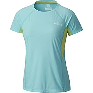 61f61dc0c2d7 Columbia Titanium Titan Ultra Shirt - Women s Coastal Blue Neon Light
