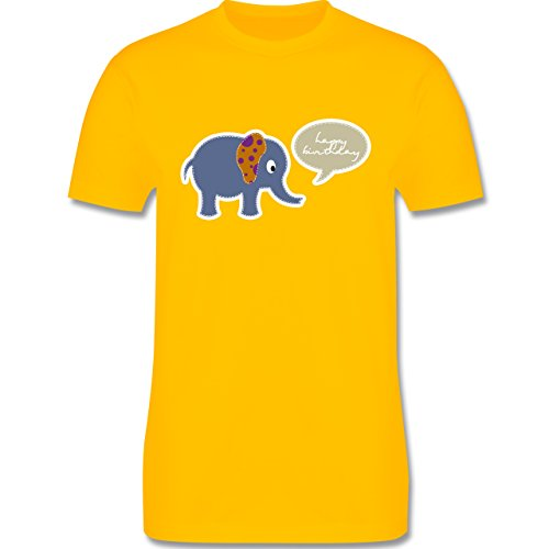 Geburtstag - Elefant Happy Birthday - Herren Premium T-Shirt Gelb