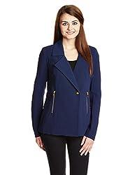 Vero Moda Womens Jacket (10123725_Black Iris_Small)