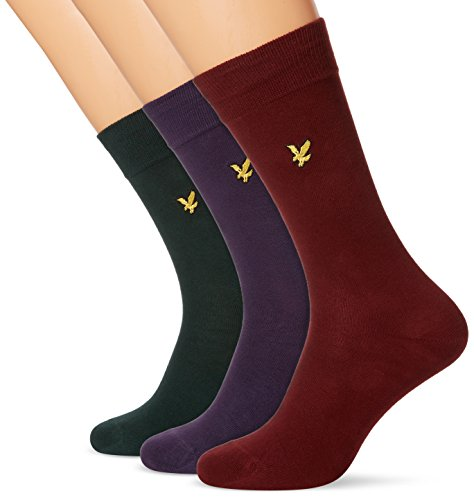 lyle-scott-mens-three-pack-assorted-calf-socks-multicoloured-assorted-one-size