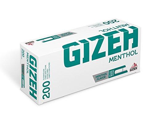 10.000 (50x200) GIZEH Menthol (Hülsen, Filterhülsen, Zigarettenhülsen)