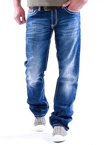 Redbridge Herren Straight Leg Jeans RB-92 Blue