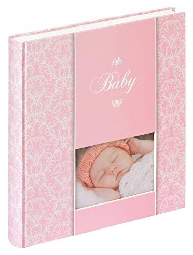 Walther Babyalbum DAYDREAMER - 30,5 x 28 cm - für bis zu 224 Bilder 10x15 - 50 Seiten - Mädchen oder Junge, Farbe:Rosa