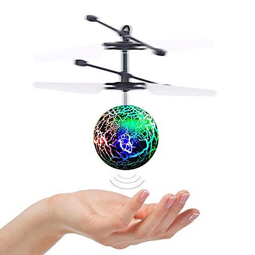 DMbaby Juguetes para niños de 6-14 años, Flying Ball Helicopter Regalos para Mujeres Juguetes para niños Niñas Niños Día de la Madre Gifts Purple DFQ05