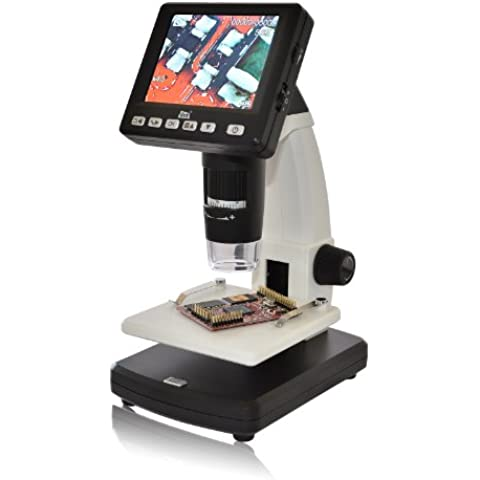 dnt DigiMicro Lab 5.0 - Microscopio digital (pantalla de 8,8 cm (3,5