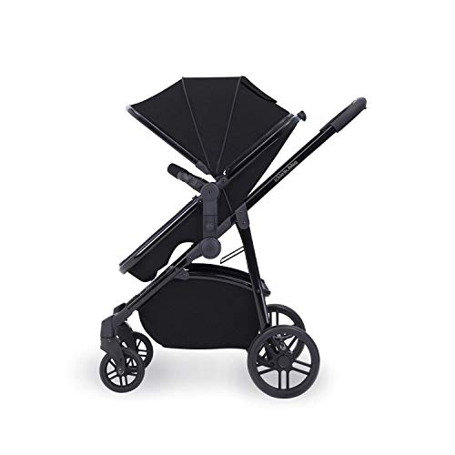 Ickle Bubba Stroller, Baby Travel System | Bundle incl Rear and Forward-Facing Pushchair, Car Seat, ISOFIX Base, Carrycot, Footmuff and Raincover | Moon 3-in-1, Black  Ickle Bubba