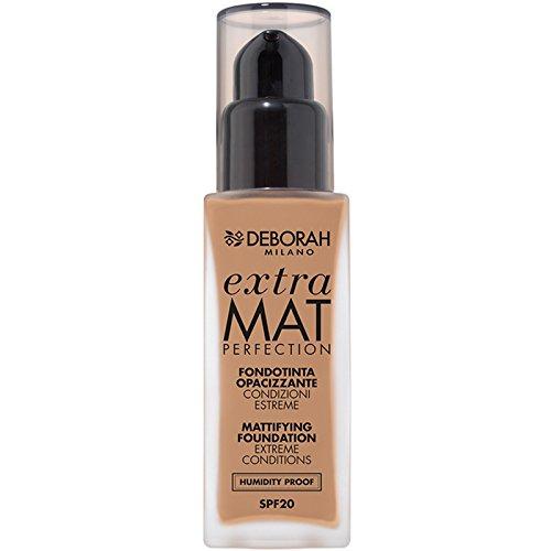 Deborah Milano FONDOTINTA Extra Mat Perfection Makeup 30ml 36G Flasche Flüssigkeit-Basis (beige, Amber, Frauen, Flasche, flüssig, 30ml -