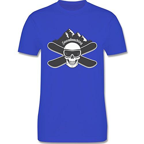 Wintersport - Snowboard Totenkopf - Herren Premium T-Shirt Royalblau