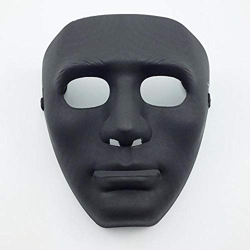 Hip Der Tanz Bilder Hop Kostüm - Halloween Maskerade Dress Up Maske Hip-Hop Tanz Requisiten Ball Party Kostüm Masken Cosplay Scary Solid (Color : Black)