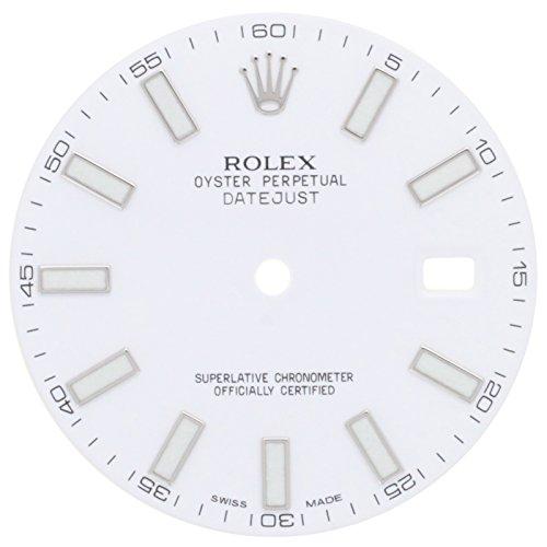 Rolex Oyster Perpetual Datejust setzt II 11630030mm weiß Zifferblatt für 41mm Herren-Armbanduhr